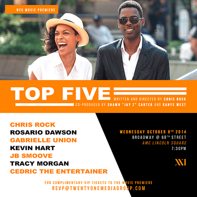 TOP FIVE CHRIS ROCK JAY Z KANYE WEST