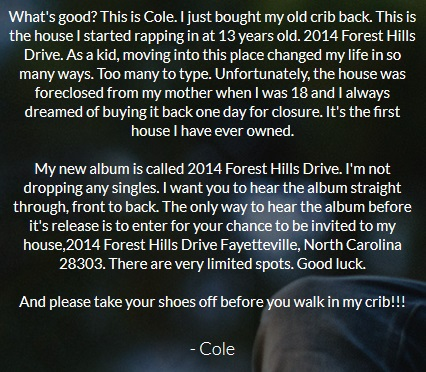 J COLE FOREST HILLS